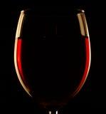 Glas wijn Royalty-vrije Stock Afbeeldingen