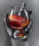 Glas Wijn Royalty-vrije Stock Foto