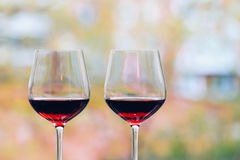 Glas Wijn Stock Afbeelding