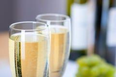 Glas wijn met druif Royalty-vrije Stock Afbeelding
