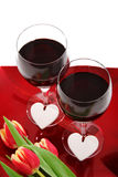 Glas wijn voor twee Stock Fotografie