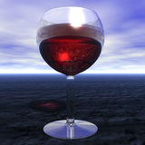 Glas of wine royalty free illustration