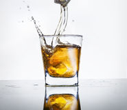 Glas wisky Stock Foto's