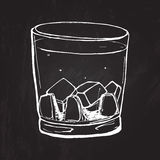 Glas Wisky Vector geschetste illustratie bij Stock Afbeelding