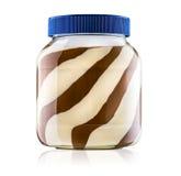 Glas witte en zwarte chocolade Stock Foto's