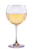 Glas witte geïsoleerde wijn Stock Afbeeldingen
