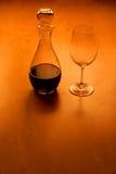 Glas y vino - serie (con el espacio de la copia) Imagen de archivo libre de regalías