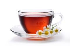 Glas zwarte thee Stock Afbeelding