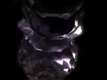 Glasabstraktion auf einem schwarzen Hintergrund Lizenzfreie Stockfotografie
