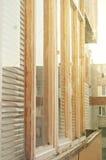 Glasad balkong Fotografering för Bildbyråer