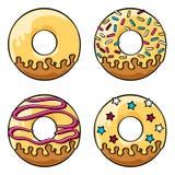 Glasad donutsuppsättning Royaltyfri Bild