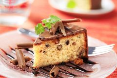 glasad mutter för cake choklad Fotografering för Bildbyråer