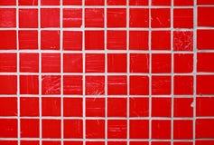 glasad röd tegelplatta Royaltyfria Bilder