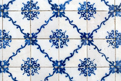 glasade portugisiska tegelplattor Royaltyfri Foto