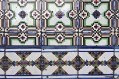 glasade portugisiska tegelplattor Arkivfoto
