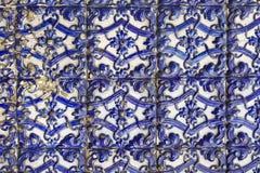 glasade portugisiska tegelplattor Arkivbild