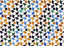 Glasade tegelplattor, azulejos, Alhambra slott i Granada, Spanien Arkivbilder