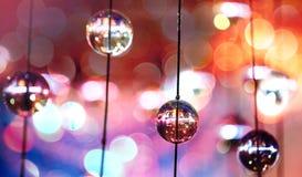 Glasauslegungselemente des modernen Leuchters Stockfotografie