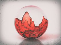 Glasbal met rode vloeistof vector illustratie