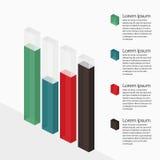 Glasbalkendiagramm mit Transparenz Lizenzfreie Stockbilder