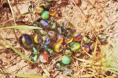 Glasballen ter plaatse royalty-vrije stock afbeeldingen