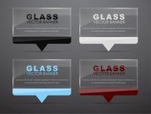 Glasbanners met citaatbel Stock Foto's