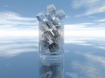 Glasbecher mit Lizenzfreie Stockbilder