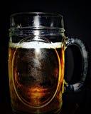 Glasbecher mit Bier lizenzfreies stockbild