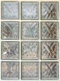 Glasblock oder mit Ziegeln gedeckte Mosaikwand Lizenzfreie Stockfotos