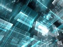 Glasblokken - abstract digitaal geproduceerd beeld Royalty-vrije Stock Fotografie