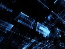 Glasblokken - abstract digitaal geproduceerd beeld Stock Fotografie