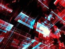 Glasblokken - abstract digitaal geproduceerd beeld Stock Afbeeldingen