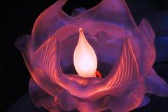 Glasblumenflammen Stockfoto