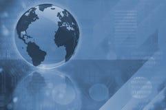 Glasbol Worldmap Stock Afbeeldingen