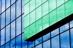 Glasbuitenkant, de bouwvoorgevel royalty-vrije stock foto's