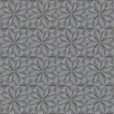 Glasdekorfliese mit gerillter Oberfläche Nahtloser geometrischer Rüttler Stockbild