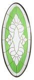 Glasdesign lokalisiert für die hölzerne Tür mit weißem Hintergrund Lizenzfreies Stockbild