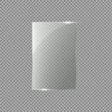 Glasdeur op geïsoleerd op transparante achtergrond Vector illustratie Royalty-vrije Stock Afbeelding