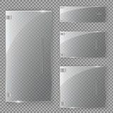 Glasdeur op geïsoleerd op transparante achtergrond Vector illustratie Royalty-vrije Stock Foto