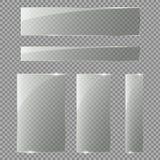 Glasdeur op geïsoleerd op transparante achtergrond Vector illustratie Stock Fotografie