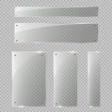 Glasdeur op transparante achtergrond wordt geïsoleerd die Vector illustratie Royalty-vrije Stock Afbeeldingen