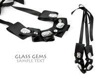 Glasedelstein-Halskette stockfoto