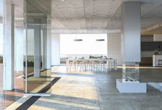 Glaseingang zum modernen Haus stock abbildung