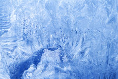 Glaseisschneeflocken eingefroren Stockbild