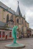 Glasengel in Zwolle Stock Afbeeldingen