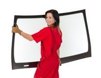 Glaser mit der Windschutzscheibe und weißen Hintergrund des Windfanges oder Stockbild