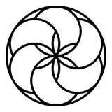 Glasera den ljusbruna symbolen, översiktsstil vektor illustrationer