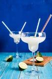 2 glases замороженной маргариты Стоковое Фото