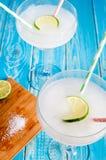 2 glases замороженной маргариты Стоковые Фотографии RF
