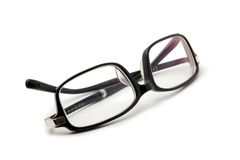 Glases black isolated Stock Image